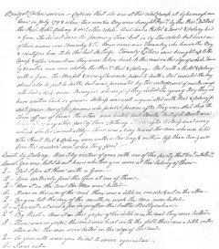 Page from the trial of Nicholas Delaney, 1799