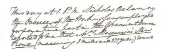 Picture: Lachlan Macquarie's diary entry about Nicholas Delaney and his gang