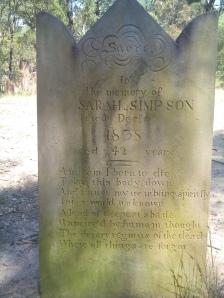 Sarah's grave (Michael Wood 2011)