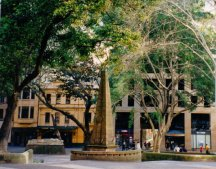 Macquarie Place, Sydney (the Greenway obelisk). Photo: Patricia Owen