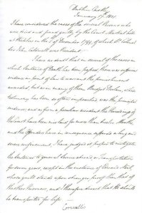 Letter from the Marquis Cornwallis transmuting Nicholas Delaney's death sentence to transportation to Sydney Cove