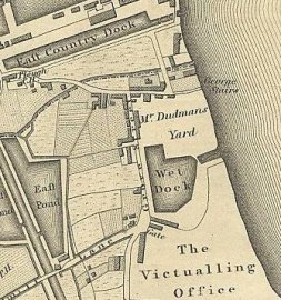 Grove Street in 1827, from Greenwood's Map (from http://users.bathspa.ac.uk/greenwood/imagemap.html)