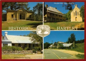 Postcard of 'Historic Hartley', New South Wales, where Nicholas Delaney's story started being traced