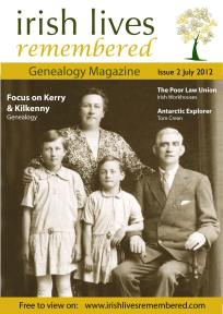 Irish Lives Remembered July edition cover