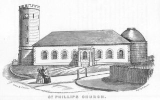 St Phillip's from Joseph Fowles' 'Sydney in 1848'