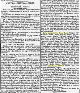Cutting from the Morning Chronicle of April 15, 1835