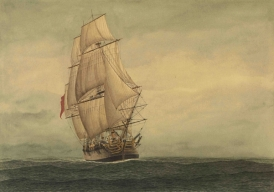 Convict ship the Lady Penrhyn. Wikimedia Commons.