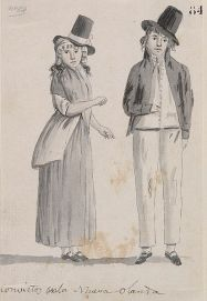 Convict woman and man, Australia, 1792 by Juan Ravenet