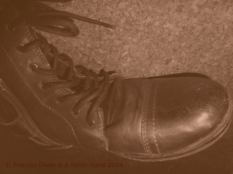 Black boot old photo © Frances Owen & A Rebel Hand 2014