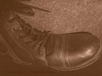 Black boot old photo © Frances Owen & A Rebel Hand 2014