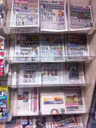 Photo of newspaper stand