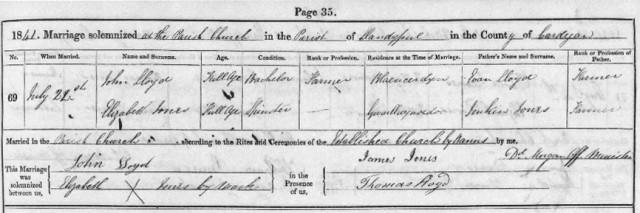 John and Elizabeth's marriage