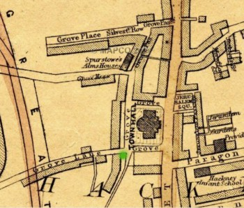 Map of Grove Lane (Weller 1868)