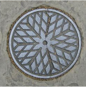 Coal hole cover plate, London pavement