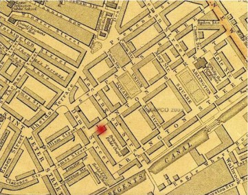 Map of Linton St and nearby, 1868 (Weller)