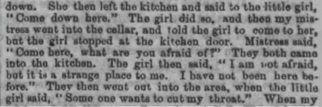 Part of a newspaper report about the murder of Celestina Christmas