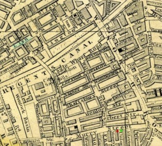 1861 map of Murray St and Linton St