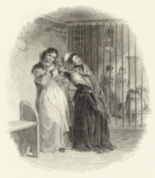 Illustration of Dickens's description of Newgate: two women