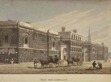 Newgate, 1st half of 19th century. Print by George Shepherd