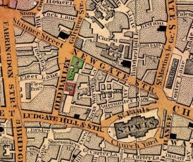 Newgate prison: Cross's New Plan of London, 1850