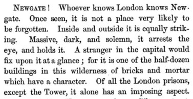 William Hepworth Dixon's description of Newgate, chapter 8