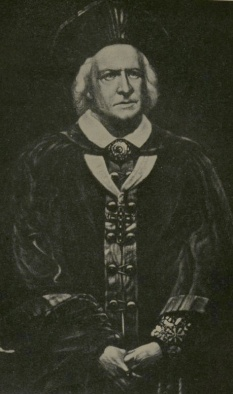 Photo of an older Samuel Phelps as Cardinal Wolsey