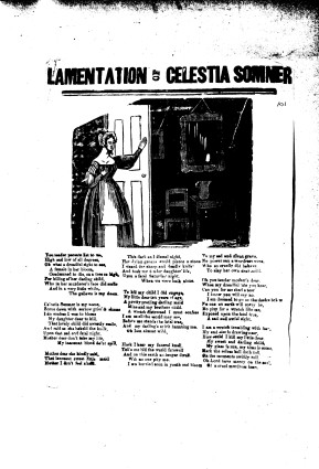 Broadside: Lamentation of Celestia Somner