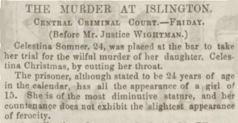 Sheffield Telegraph report of the first trail of Celestina Sommer at the Old Bailey
