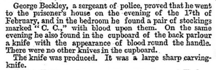 The Times report about the murder weapon