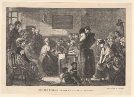 Elizabeth Fry reading to women at Newgate Prison