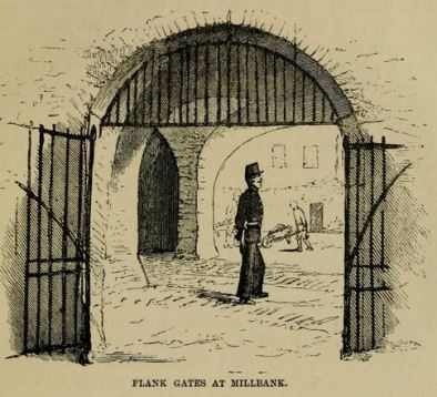 Millbank Prison flank gates (inside the prison)