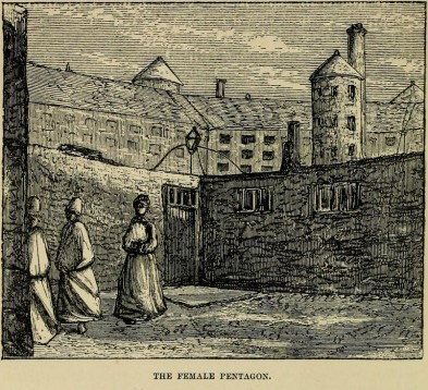 Women prisoners in the yard at Millbank