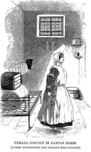 Millbank Prison convict in a canvas dress