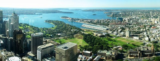 Photo of the Domain, Sydney, from the air
