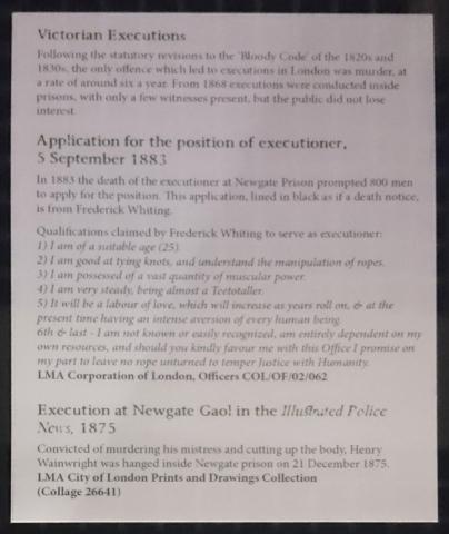 Transcription of the executioner job application