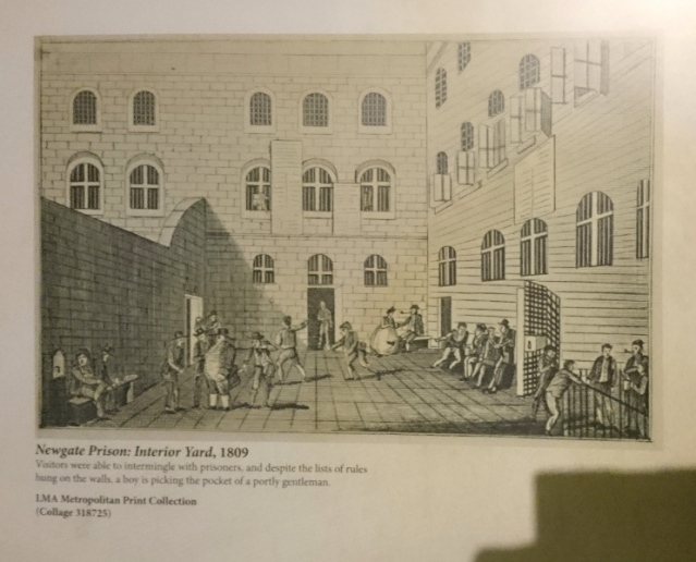 Convict Lives Newgate interior yard