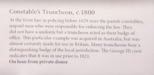 Criminal Lives truncheon info
