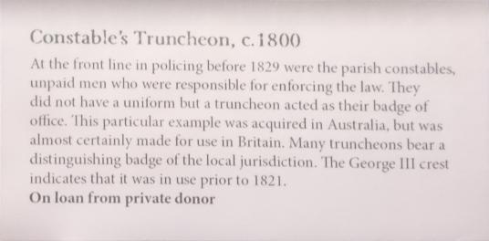 Criminal Lives truncheon info