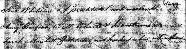 Sarah Marshall's entry on the Friendship II list of convicts with their characters