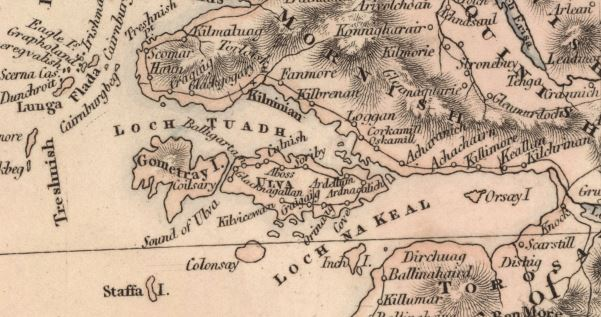 1807 map of Scotland showing Ulva