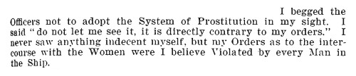 Armett's evidence about not wanting to see prostitution